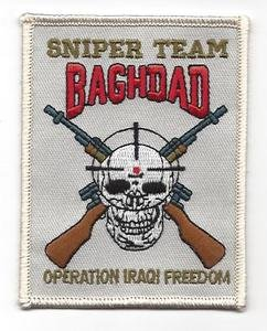 (Sniper Team - Baghdad Operation Iraqi Freedom Patch - Veteran Owned Business)