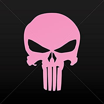 Sticker decal punisher skull decoration bike motorbike bicycle vehicle pink 4 x 2 88 in