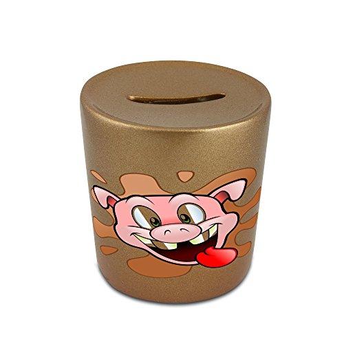 Happy pig head golden money bank (Happy Pig Bank)