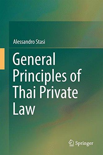General Principles of Thai Private Law