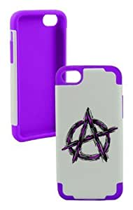 Anarchy Plastic & Silicone Purple Case for Iphone 6 (4.5)