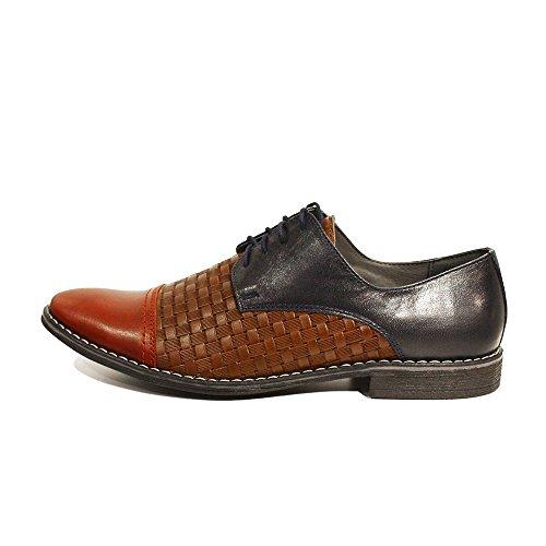 Bunt Oxfords Leder Rindsleder Geprägtes PeppeShoes Italienisch Abendschuhe Herren Handgemachtes Lino Schnürhalbschuhe Leder Schnüren Modello 6q6a07Y