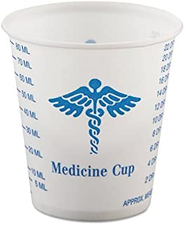 product image for SOLO Cup Company Paper Medical & Dental Graduated Cups, White/Blue, 3 oz, 100/Bag, 50 Sleeves of 100 Cups, 5000 Per Case