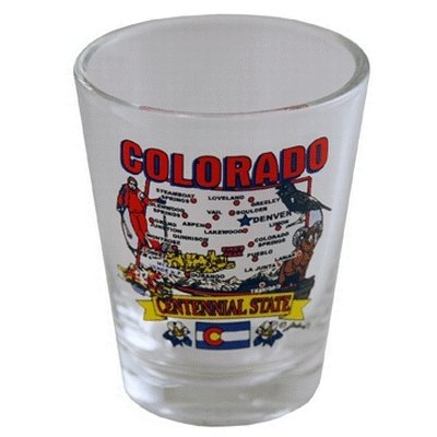 Ddi Colorado Shot Glass 2.25h X 2'' W State Map (pack Of 96) by DDI