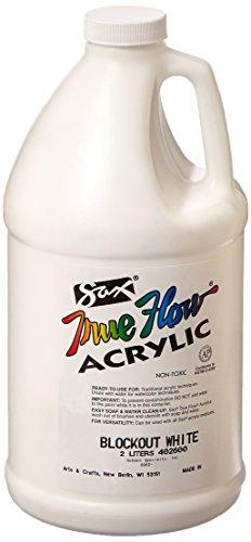 Sax True Flow Heavy Body Acrylic Paint, 1/2 Gallon, Blockout White