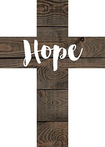 Hope Dark Brown 7 x 5 Wood Wall Art Cross Plaque