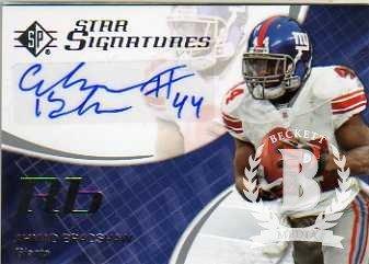 2008 SP Authentic SP Star Signatures #SPSS10 Ahmad Bradshaw Autograph Card - Giants