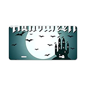 Boeshkey Personalized License Plate Greeting Card for Halloween Front License Plate