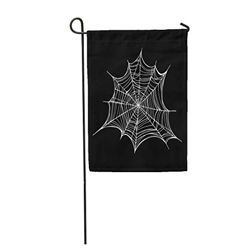 Semtomn Garden Flag Abstract Spiderweb Trap for Halloween Line Drawing Mascara Gothic 28