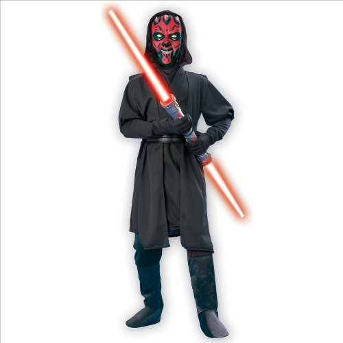 [DARTH MAUL DELUXE CHLD MD 8-10] (Child Darth Maul Costumes)