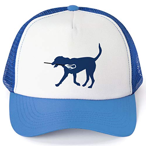 Lacrosse Trucker Hat | Max The Lax Dog | Royal