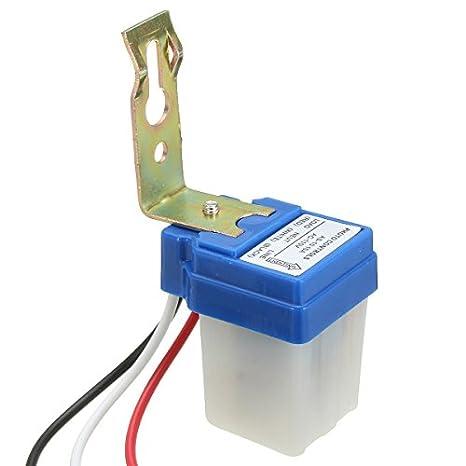 GOZAR 110V 10A Foto Control Fotocélula Luz Sensor Detector Interruptor: Amazon.es: Hogar