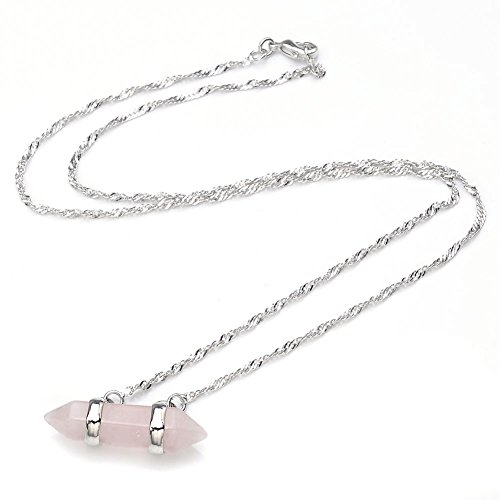 Crystal Wrapped Pendant Platinum Necklace