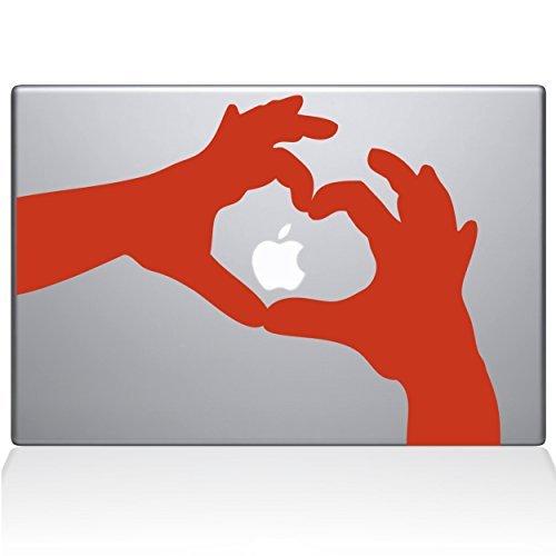 The Decal Orange Guru Love Heart Hands Macbook Decal B0788D9F2T Decal Vinyl Sticker - 15 Macbook Pro (2016 & newer) - Orange (1236-MAC-15X-P) [並行輸入品] B0788D9F2T, ニシイワイグン:47406b10 --- krianta.com