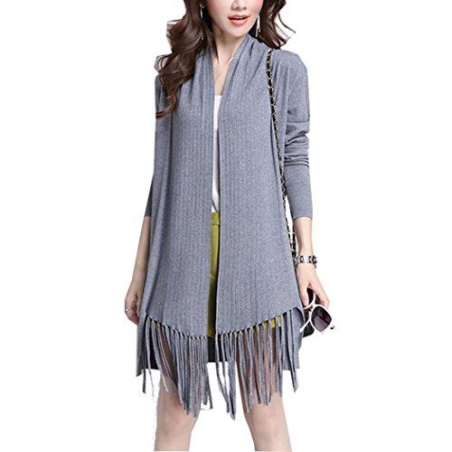 pqdaysun - Gilet - Manches Longues - Femme Style 2 Grey