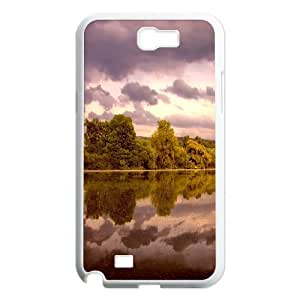 Samsung Galaxy Note 2 Case Neckar River, River Tyquin, {White}
