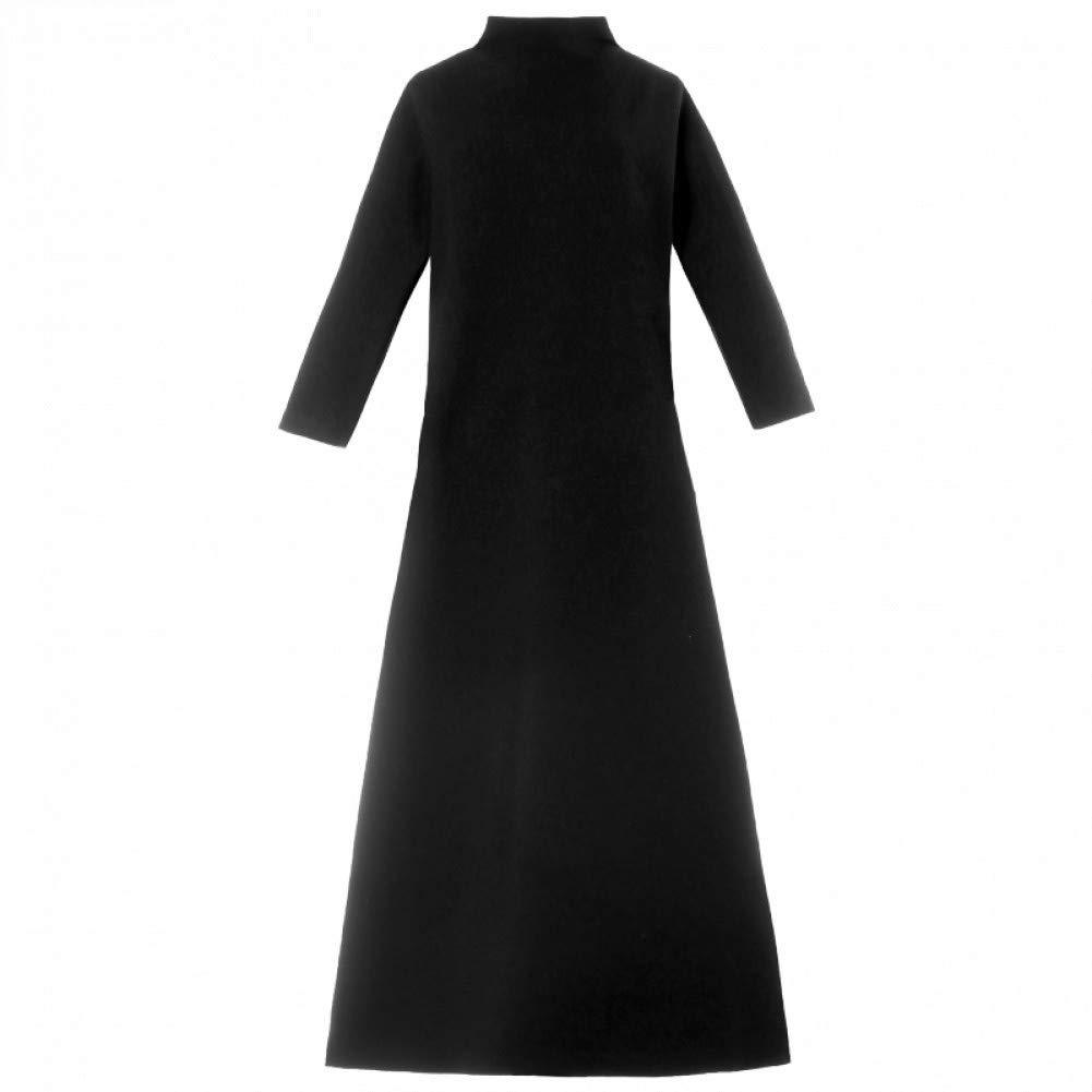L BINGQZ Cocktail Dresses Knit dress autumn women's ladies temperament stand collar long sleeve long autumn and winter skirt