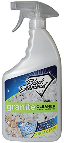 - Black Diamond Stoneworks Granite Counter Cleaner: Natural Stone, Marble, Travertine, Tile, Quartz, Concrete Countertops and Antiques. (32OZ)