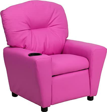 Amazon.com: Flash Furniture Contemporary Hot Pink Vinyl Kids ...