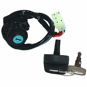 caltric ignition key switch fits suzuki ltf400. Black Bedroom Furniture Sets. Home Design Ideas