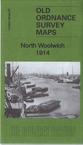 OLD ORDNANCE SURVEY MAP NORTH WOOLWICH LONDON 1894 SHEET 81