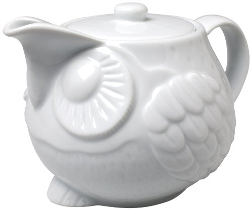 Abbott Collection White Sitting Owl Teapot]()