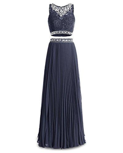 Ysmo - Vestido - trapecio - para mujer azul marino