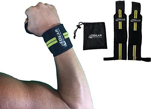 BEAR STRENGTH & CONDITIONING Wrist Wraps Gym Wrist Wraps - Wrists Wraps Band-Premium Quality 12inch Pair for...