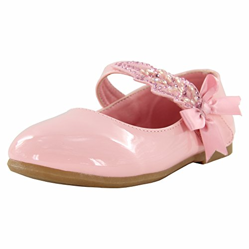 Maxu Little Girl Ballet Mary Jane Shoe,Pink,Little Kid,11M