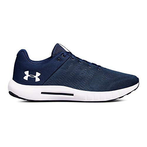 Under Armour Men's Micro G Pursuit - Wide (4E) Running Shoe, Academy (400)/Blue, 8