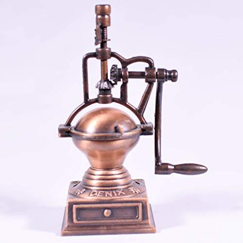 Coffee Grinder Miniature Die Cast Bronze Pencil Sharpener - Coffee Machine Miniature Desk Gift - Hand Crank Mill/Coffee Replica Model
