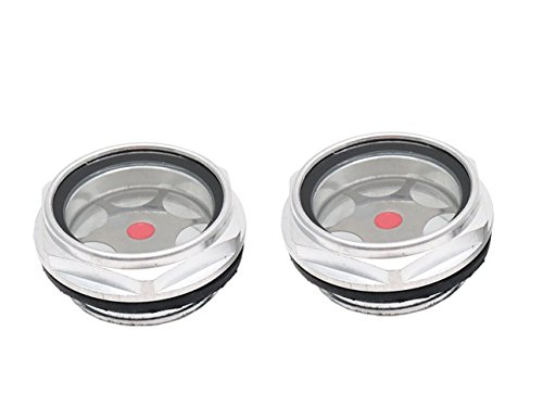 - Sydien 2Pcs G1-1/4 Male Threaded Aluminum alloy Oil Level Gauge Sight Glass Window Replacement Hex Head Air Compressor Fittings