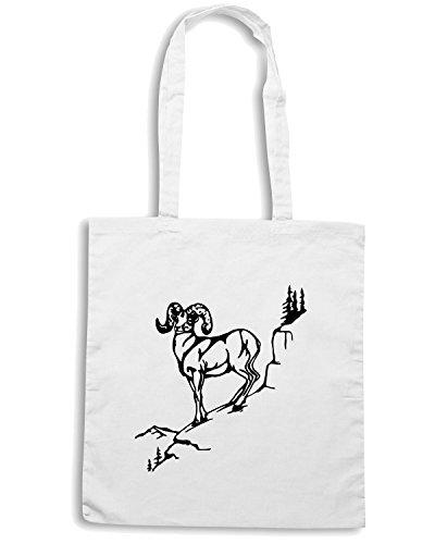 T-Shirtshock - Bolsa para la compra FUN0412 1607 deer diecut decals 8 60620 Blanco