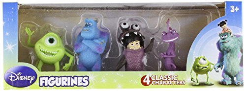 Beverly Hills Teddy Bear Company Monsters Inc. Toy Figure, 4-Pack - Monsters Inc Party Supplies