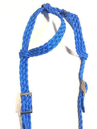 Ear Bridle (double ear bridle horse tack royal blue)