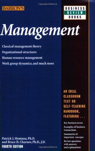 Management (Barron's Business Review Series)