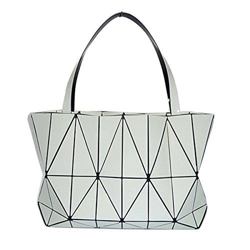 HAOXIAOZI Bolso Geométrico Lingge Verano Portátil Hombro Triángulo Costura Bolsa De Marea White