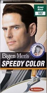 Bigen Speedy - Tinte para cabello sin amoníaco para hombre, color marrón y negro -102
