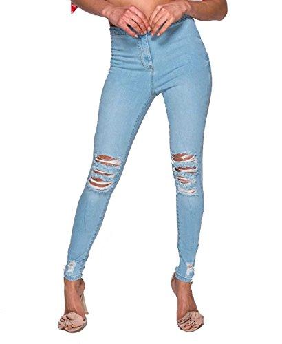 mujer Instagram para azul Clothing Vaqueros claro qxHav