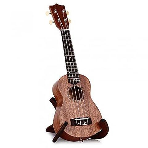 Tokky 21 Inch Soprano Ukulele Uke Four Strings Instrument Brown (Uke Soprano Strings)