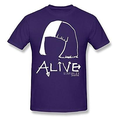 MOYI Men's Alive Sia T-shirt Purple Small