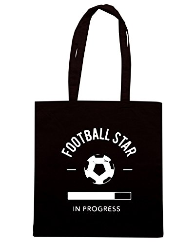 T-Shirtshock - Bolsa para la compra WC1159 Football Star Progress Maglietta Negro