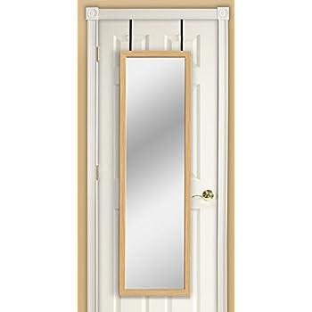 Mirrotek dm1448ok over the door mirror oak for 12x48 door mirror