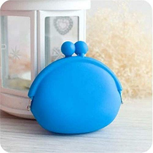 Purses Wallet Card Case Case Pouch Silicone Coin Bag (color - Blue)