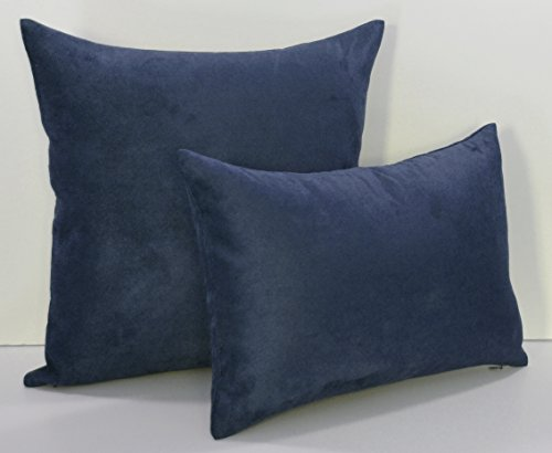 Creative Luxury Faux Suede Decorative pillow - 18 By 18 Navy