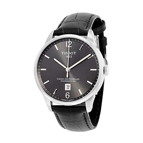 (Tissot Men's T0994071644700 Chemin Des Tourelles Powermatic 81 Analog Display Swiss Automatic Black Watch)