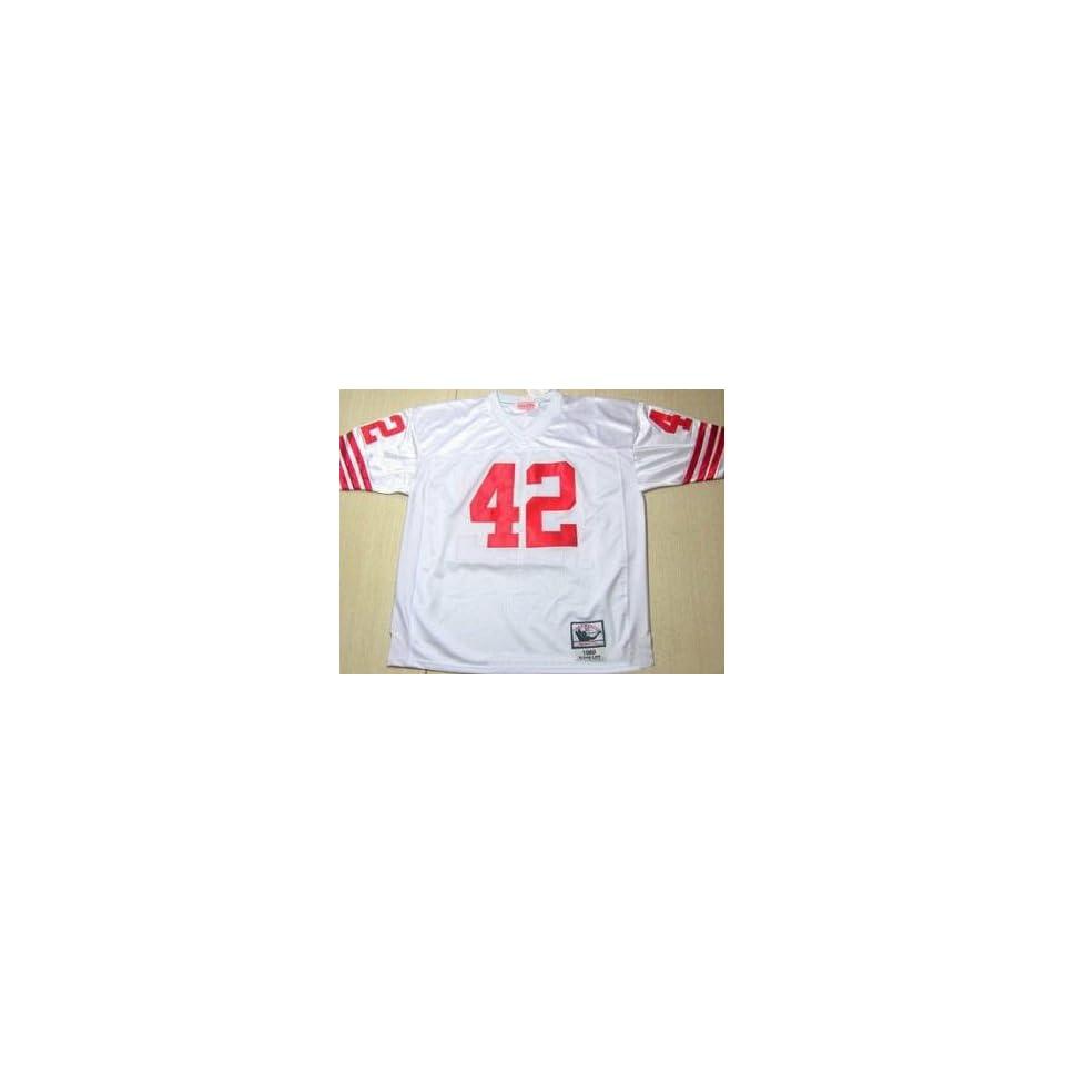 Lott Jerseys? San Francisco 49ers #42 Ronnie Lott White Throwback