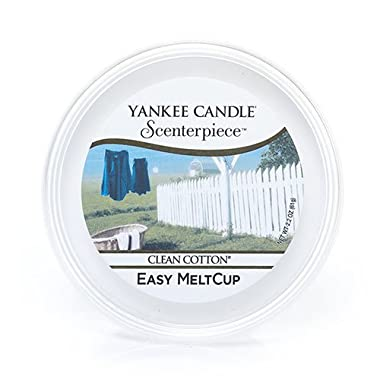 Yankee Candle Clean Cotton Scenterpiece Easy MeltCup, Fresh Scent
