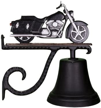 Montague Metal Products Cast Bell with Black and Chrome Motorcycle