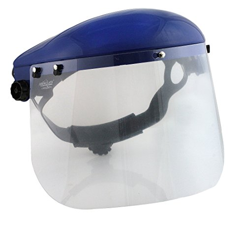 Safety Headgear with Clear Polycarbonate Face Shield by BISON LIFE